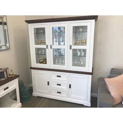 Paris 1640 Medium Buffet and Hutch Two Tone