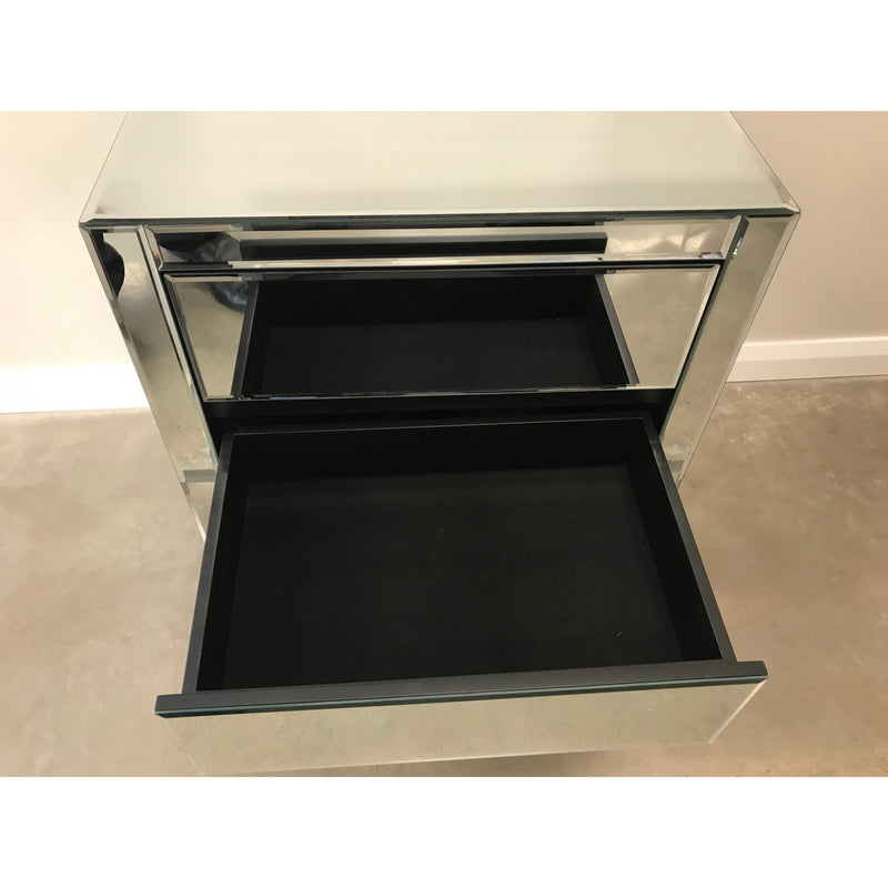 Zenn 3 Drawer Mirrored Bedside