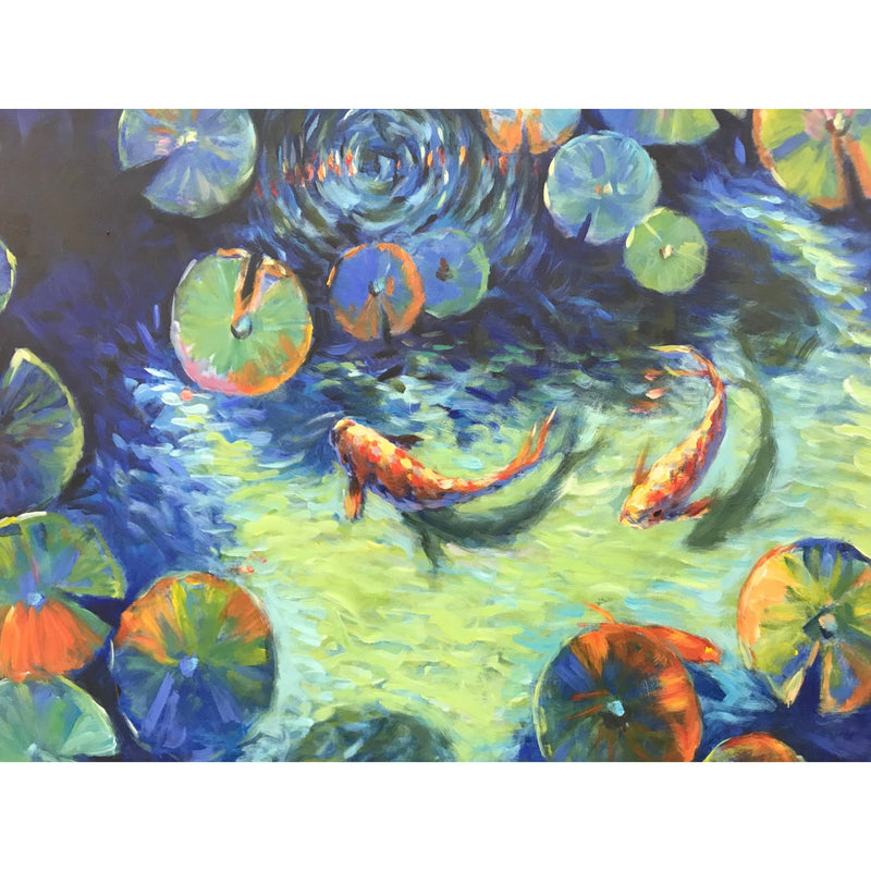 Koi Dance Oil Canvas 100x100