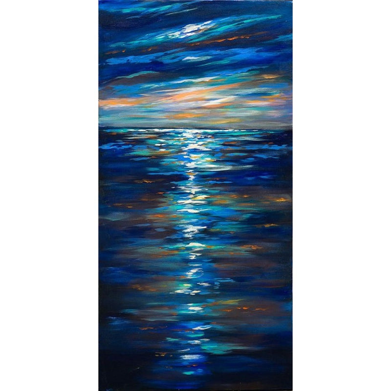 Ripples Oil Canvas 60x120
