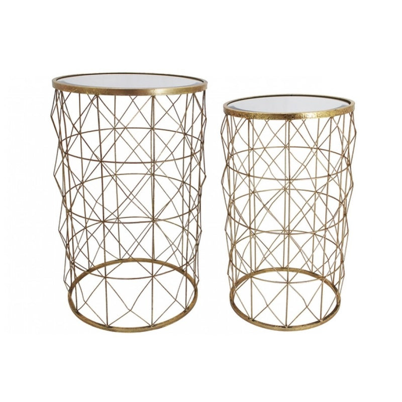 Mirror Side Table Set Of 2