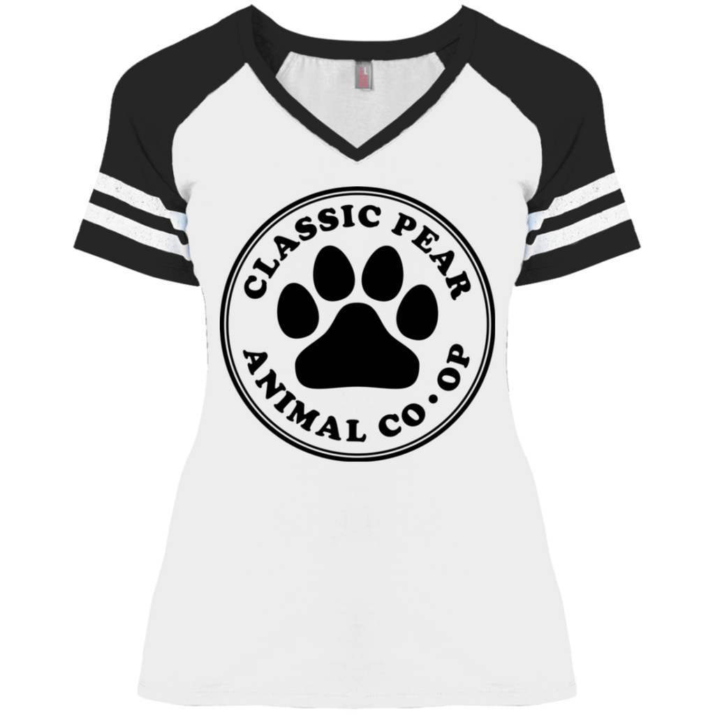 Classic Pear Ladies' Game V-Neck T-Shirt