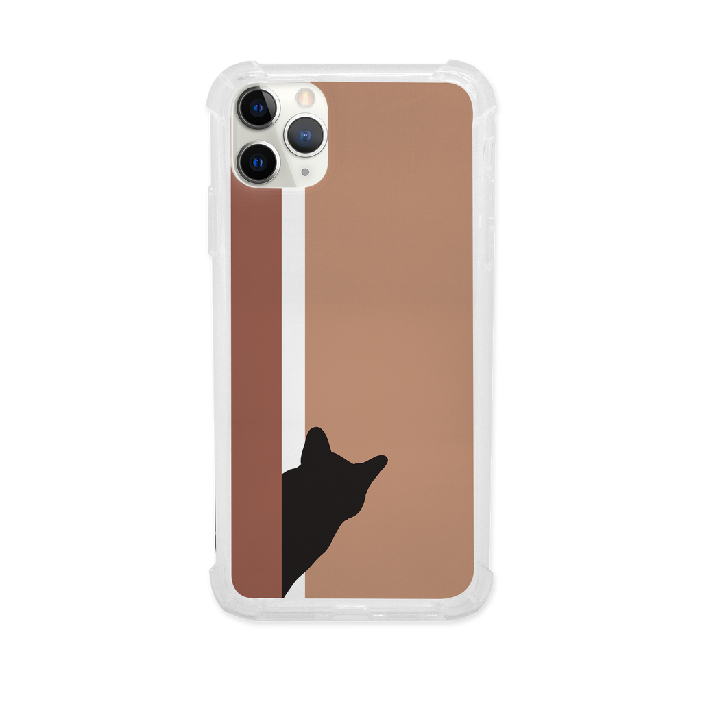 Peeking Cat Shock Case