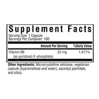Seeking Health, P-5-P 100 Vegetarian Capsules, Supplement Facts