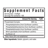 Seeking Health, Optimal PC 100 Softgels, Supplement Facts