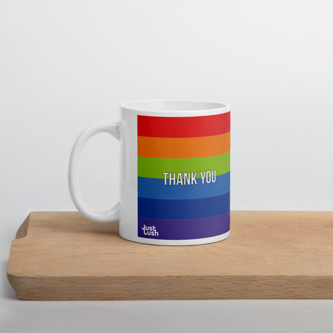11oz Mug - Rainbow Thank You (5128588394540)