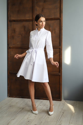 "Lab Coat ""Camilla"" white"
