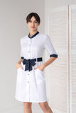 "Lab Coat ""Marta"" white-blue"