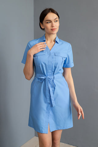 "Lab Coat ""Helen"" blue"