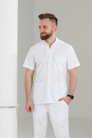 "Men's medical suit (white) ""Roman"""