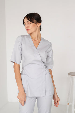 "Scrub Set ""Mirra"" gray"