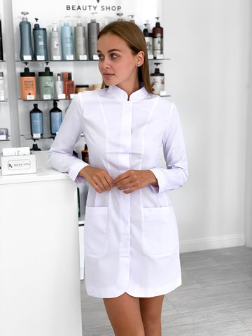 "Lab Coat ""Olimpia"" short with long sleeves"