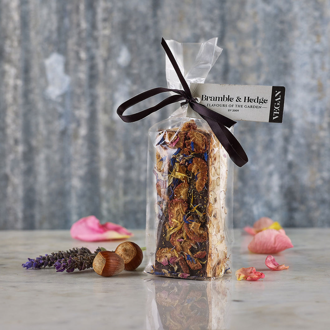 Bramble & Hedge Vegan Nougat - Strawberry & Elderflower 150g