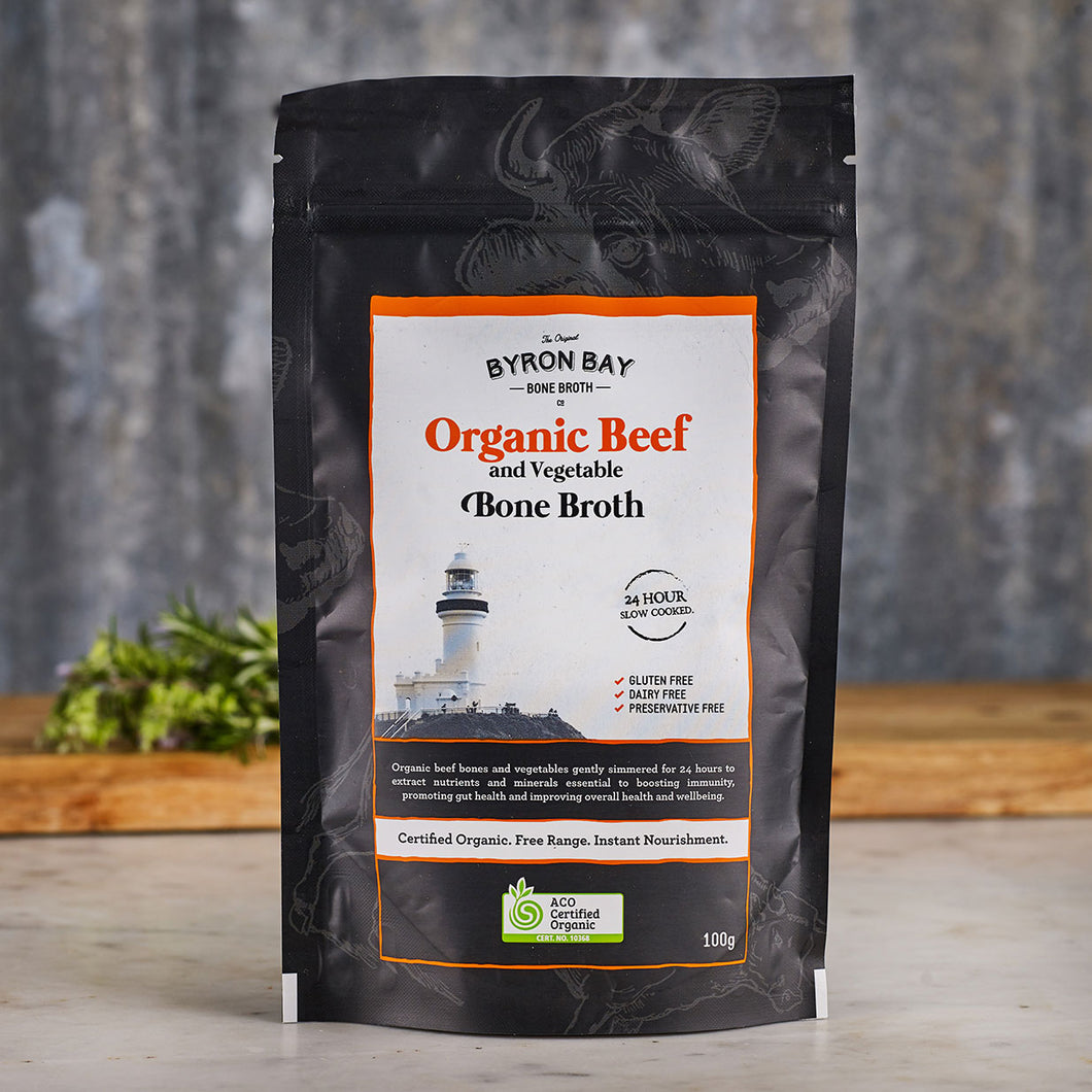 Byron Bay Bone Broth Co. Organic Beef Bone Broth Powder 100g