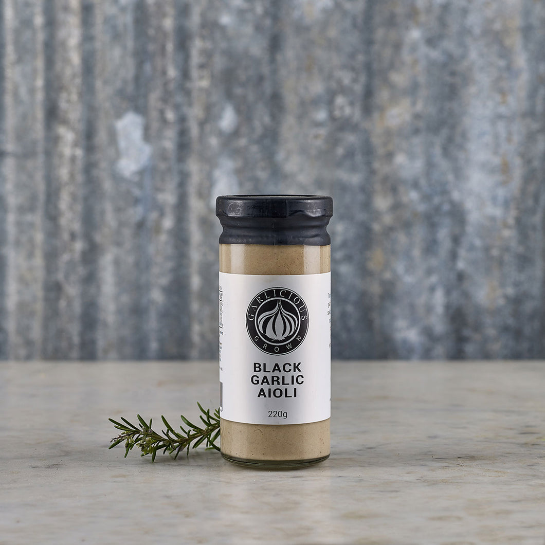 Garlicious Grown Black Garlic Aioli 220g