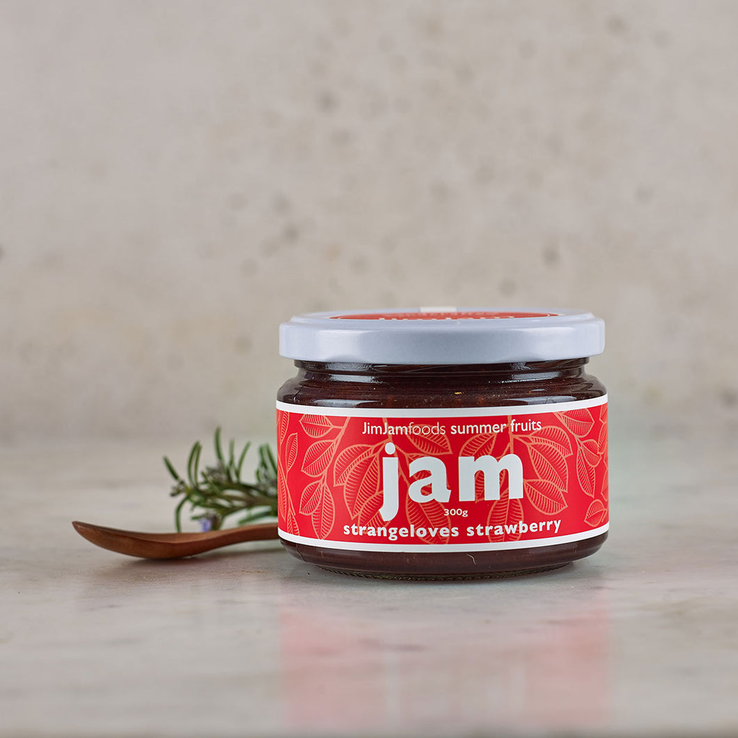 JimJam Foods Strangeloves Strawberry Jam 300g