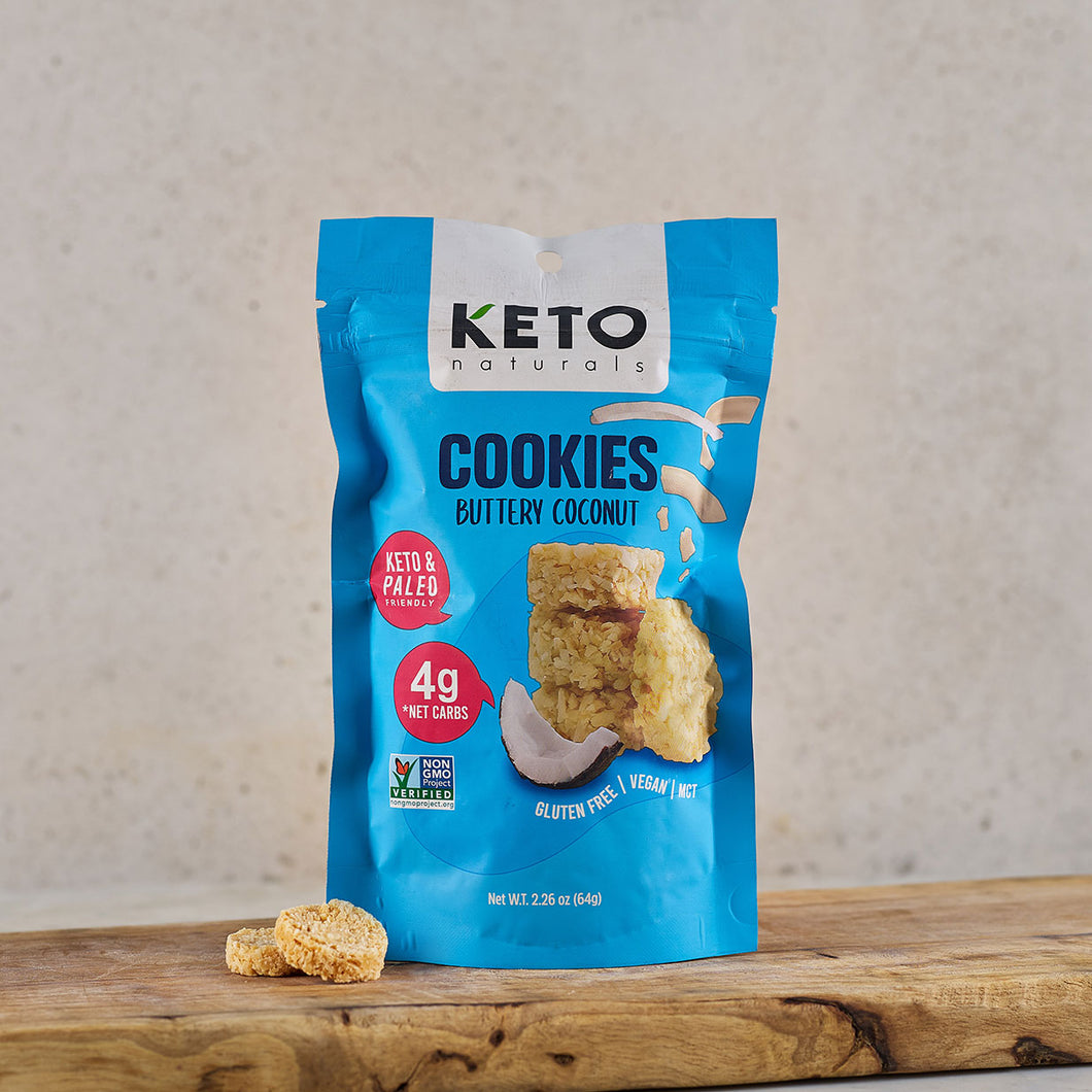 Keto Naturals Buttery Coconut Cookies 64g