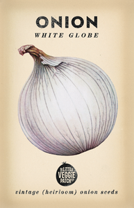The Little Veggie Patch Co. White Globe Onion Seeds