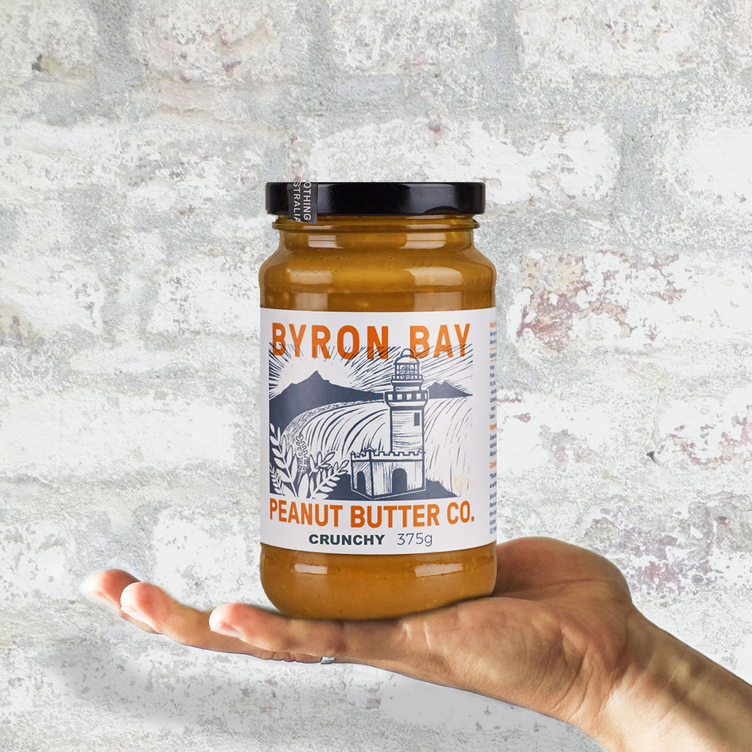Byron Bay Peanut Butter Co. Crunchy Unsalted Peanut Butter 375g