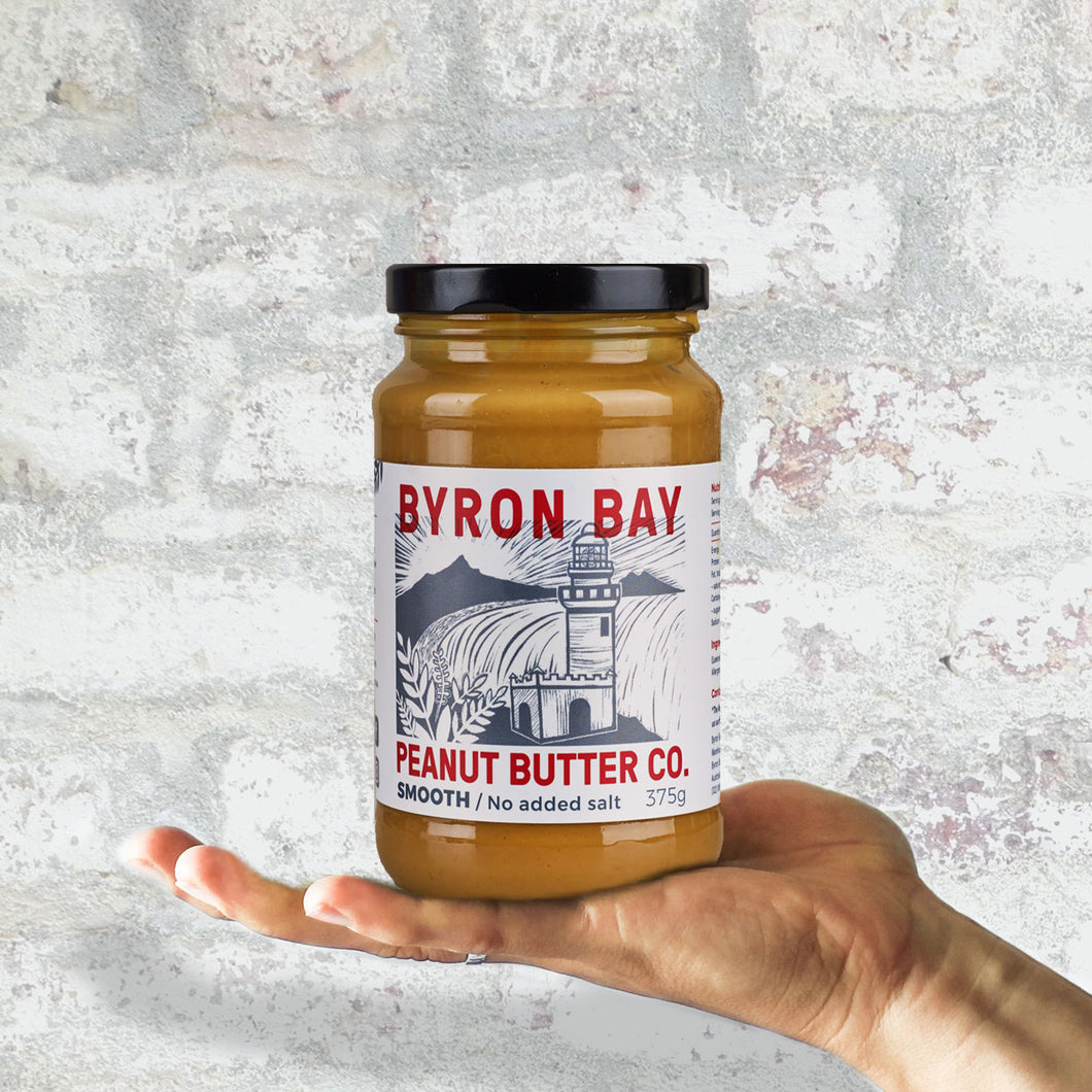 Byron Bay Peanut Butter Co. Smooth Unsalted Peanut Butter 375g