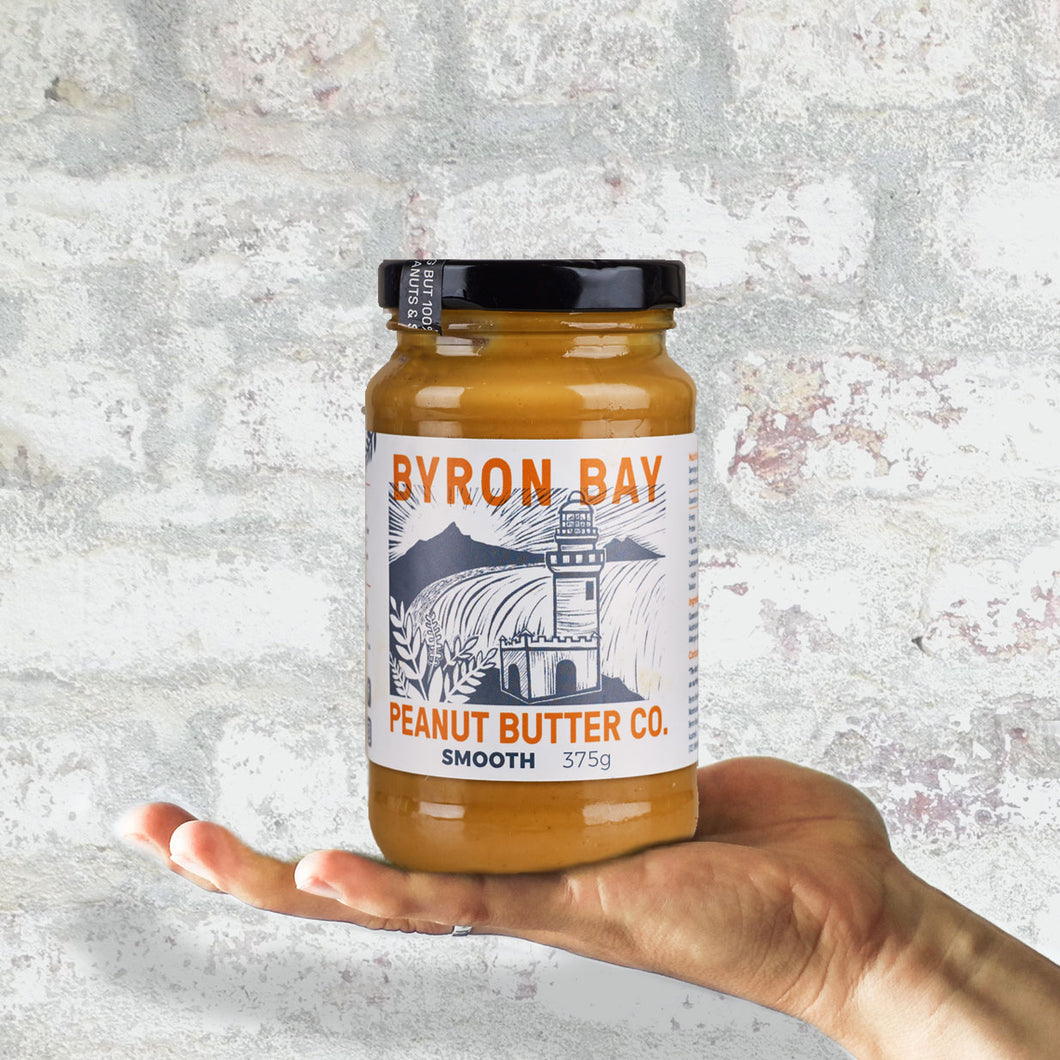 Byron Bay Peanut Butter Co. Smooth Salted Peanut Butter 375g