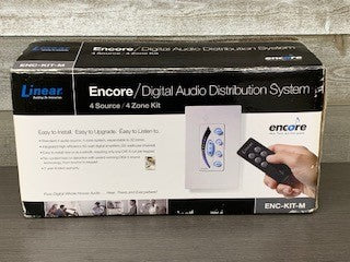 LIN-ENC-KIT-M - Encore 4-Source, 4-Zone Digital Audio Distribution System Kit, ENCORE DIGITAL AUDIO