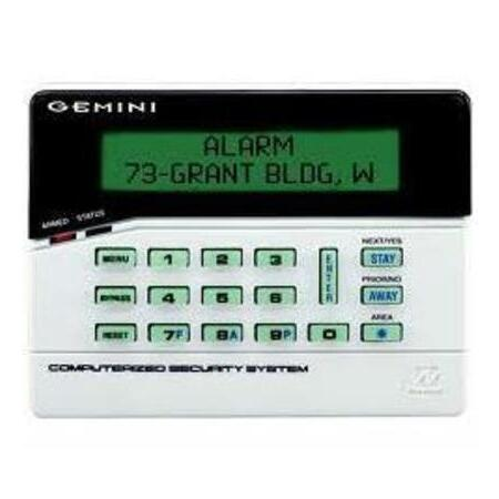 NAP-GEM-RP1CAE2 - Custom Alpha LCD Keypad (green backlit) classic keys w/ 4-zone expander