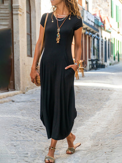 Casual Plain A-Line Dresses