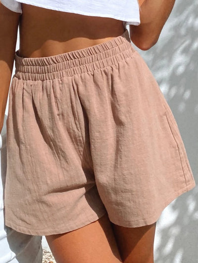 Holiday Casual Shift Linen Short Pants