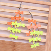 Colorful Copper Dragonfly Earrings