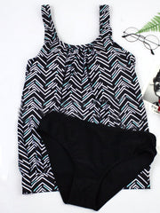 Striped Printed Graphic Casual Swimwear
