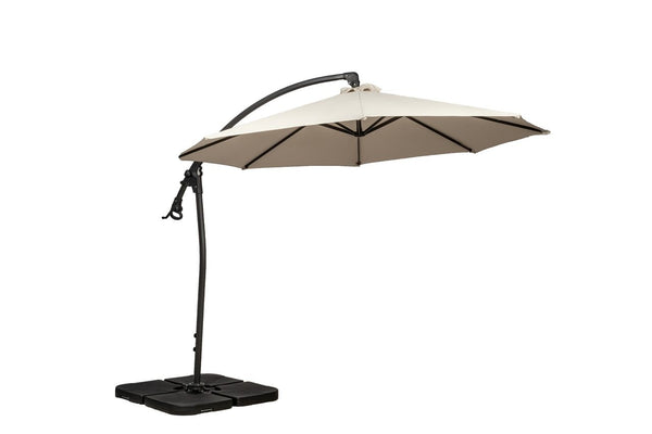 Ivory 3m Deluxe Pedal Operated Rotational Cantilever Parasol