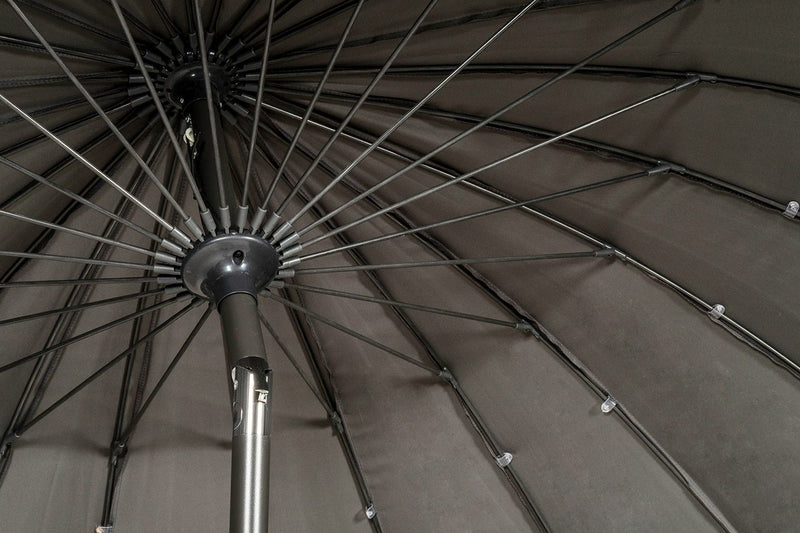 Grey 2.7m Crank and Tilt Shanghai Parasol
