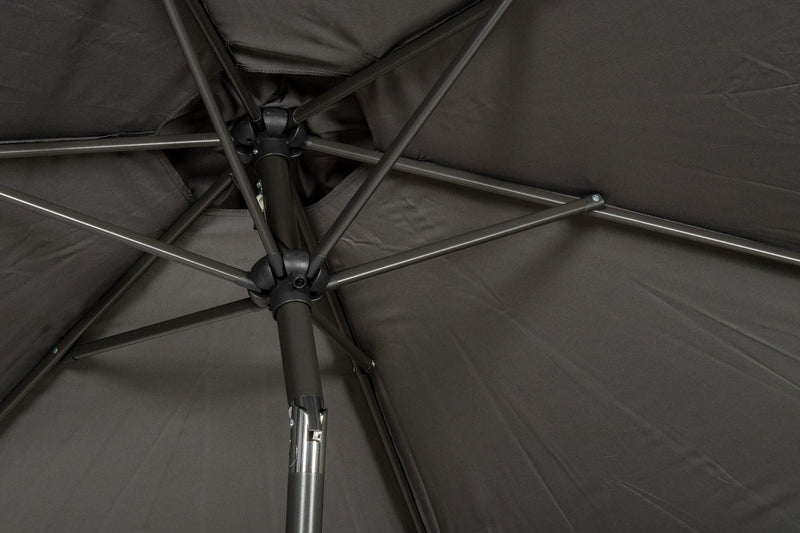 Grey 2.5m Crank and Tilt Parasol - Powder Coated Pole