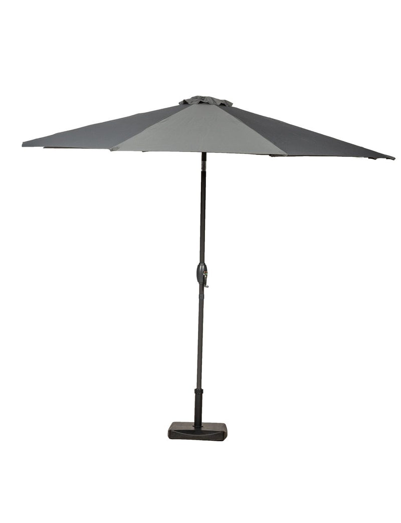 Grey 3m Crank and Tilt Parasol
