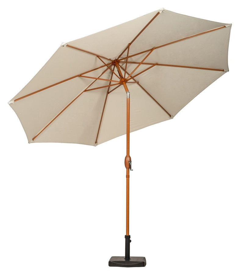 Ivory 3m Woodlook Crank and Tilt Parasol