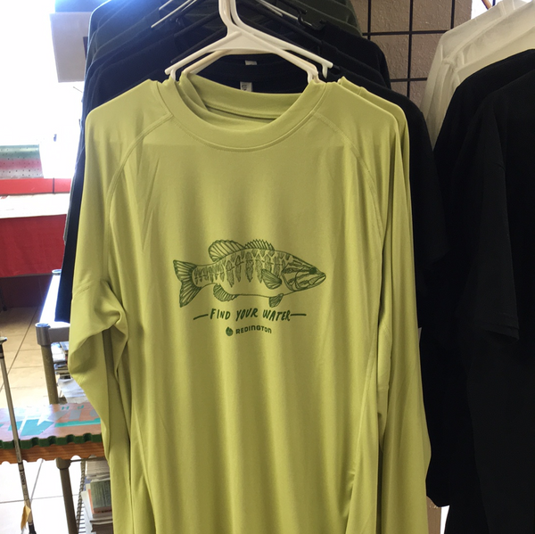 Redington small mouth bass find your water sun shirt
