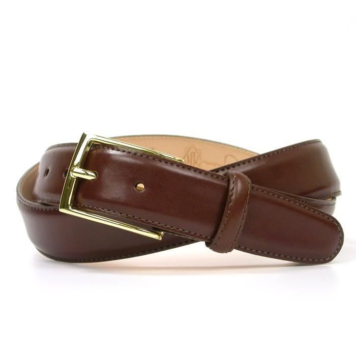 Martin Dingman Smith Leather Belt in Luggage