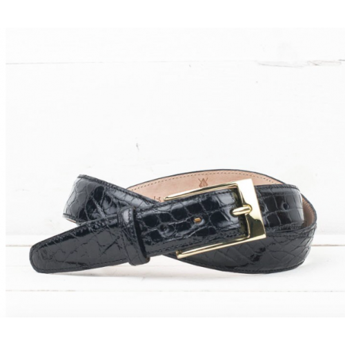 Martin Dingman Alligator Grain Belt in Black