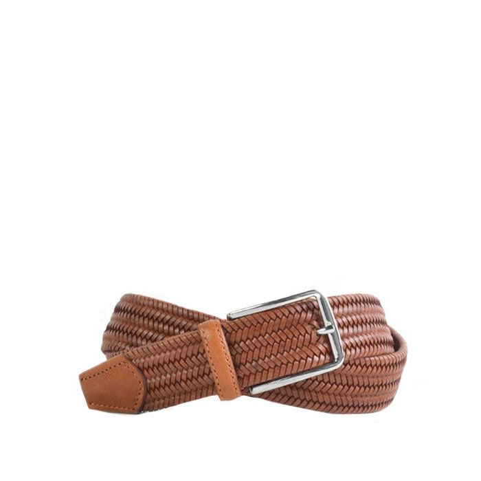 Martin Dingman Lexington Leather Belt in Saddle Tan