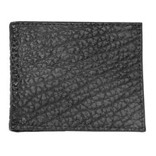 Load image into Gallery viewer, T. B. Phelps Bozeman Bison Leather Bifold Wallet in Black