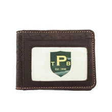 Load image into Gallery viewer, T. B. Phelps Cheyenne Bison Front Pocket Wallet in Dark Briar