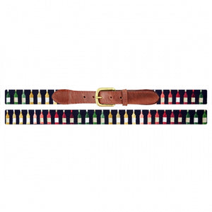 Smathers & Branson Wine Bottles Needlepoint Belt