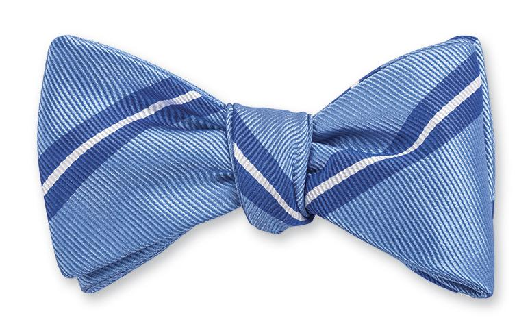 R. Hanauer Trumbull Stripes Bow Tie in Blue