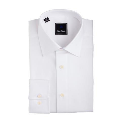 David Donahue Royal Oxford Dress Shirt in White