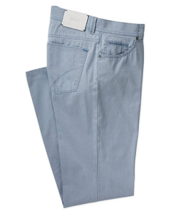 Brax Textured Cotton Stretch Five-Pocket Pant in Arctic