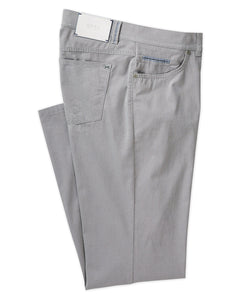 Brax Textured Cotton Stretch Five-Pocket Pant in Platin