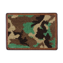 Load image into Gallery viewer, Smathers & Branson Camo Needlepoint Card Wallet