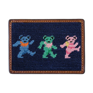 Smathers & Branson Dancing Bears Needlepoint Card Wallet