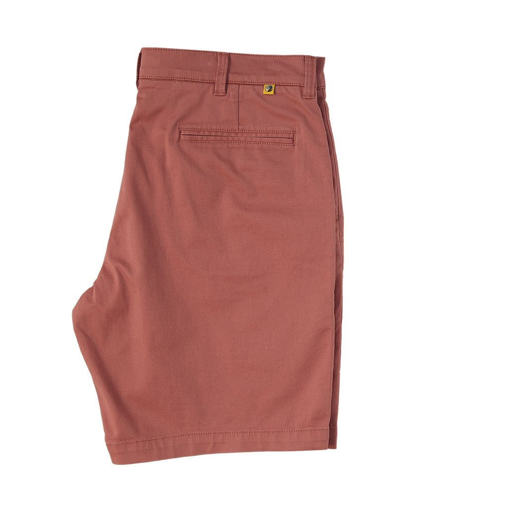 "Duckhead 9"" Gold School Chino Short in Weathered Red"